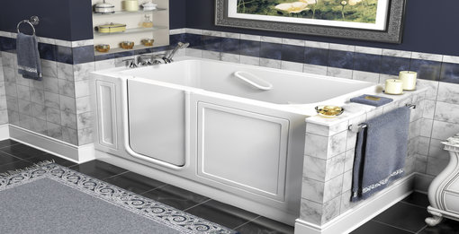 Walk in bathtubs make bathing easy for people with mobility issues