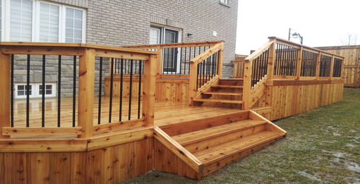 Beautiful decks are a simple way to dramaticly increase your home value
